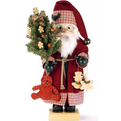 Santa with Teddy Bear and Christmas Tree Nutcracker