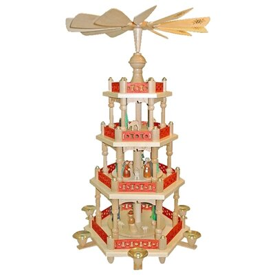 Alexander Taron 3-Level Nativity Pyramid in Natural Wood