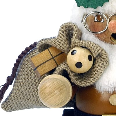 Alexander Taron Christian Ulbricht Santa Smoker Incense Burner in Natural Wood
