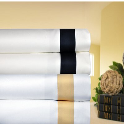 Aspire Linens 520 Thread Count Egyptian Cotton Banded Sheet Set