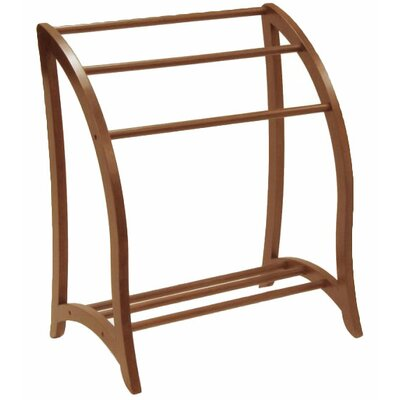 Winsome Walnut Quilt Rack