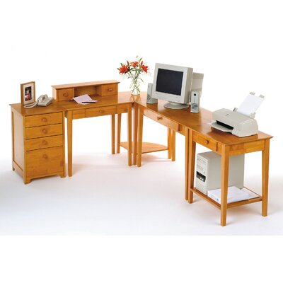 Winsome Studio Home L-Shape Desk 5 Piece Office Suite