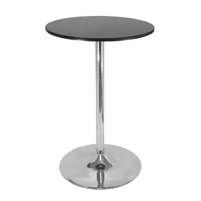 "Winsome 28"" Round Pub Table with Chrome Leg"