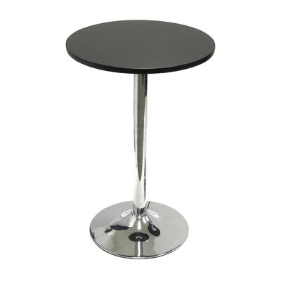 "Winsome 20"" Round Bistro Table with Chrome Leg"