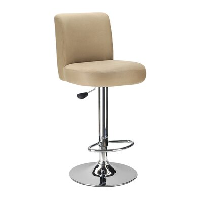 Winsome Jayden Air Lift Stool with Micro Fiber Top in Brown