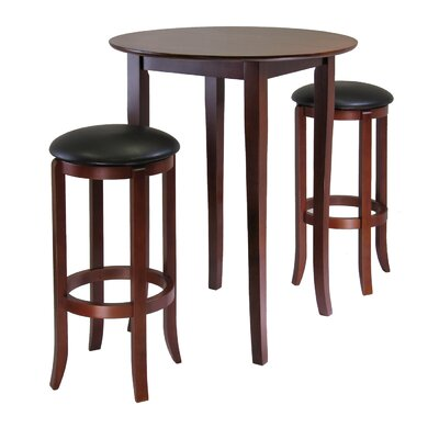 Winsome Fiona Round 3 Piece High Pub Table Set