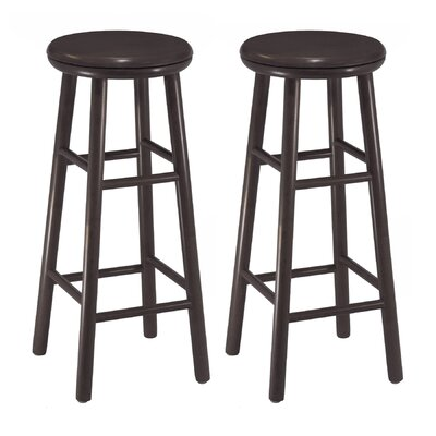 "Winsome 30"" Swivel Bar Stool in Dark Espresso (Set of 2)"