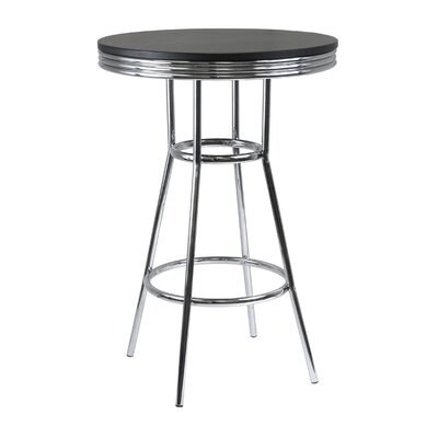 Winsome Summit Pub Table with Metal Legs in Black