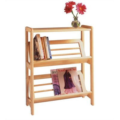 "Winsome Basics 30"" H Tilted Shelf Two Tier Bookshelf"