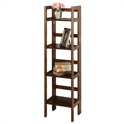 "Winsome Basics 51"" H Folding Four Tier Bookshelf"