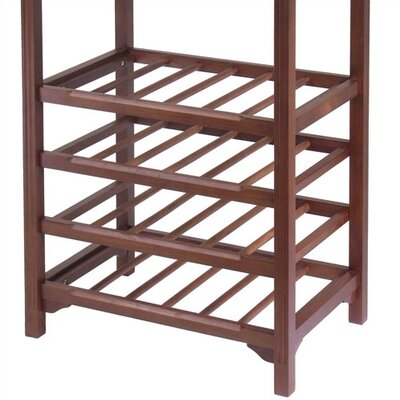 Winsome Antique Walnut 24 Bottle Wine Rack