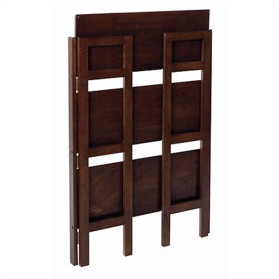 "Winsome Basics 39"" H Antique Walnut Folding Three Tier Bookshelf"