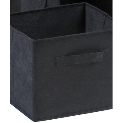 Winsome Capri Foldable Fabric Storage Baskets in Black (Set of 6)