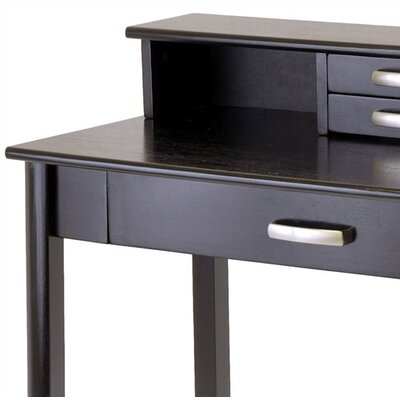winsome liso home office computer desk with hutch