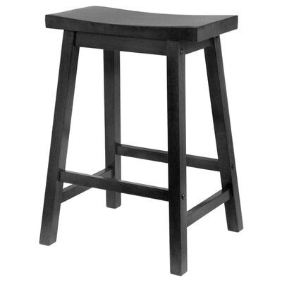 "Winsome Saddle Seat 24"" Counter Stool in Black"