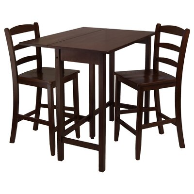 Winsome Lynnwood 3 Piece Pub Table Set