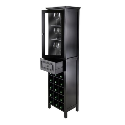 Winsome Burgundy 15 Bottle Wine Cabinet