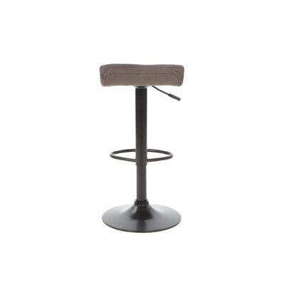 Winsome Marni Air Lift Stool with Micro Fiber Seat Top in Black Stain
