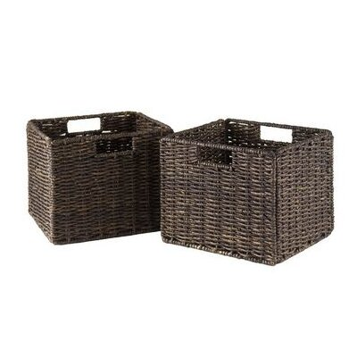 Winsome Espresso Small Storage Baskets (Set of 2)