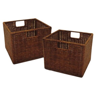Winsome Walnut Small Storage Baskets
