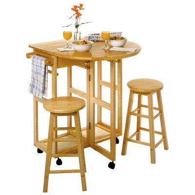 Winsome Basics 3 Piece Pub Table Set