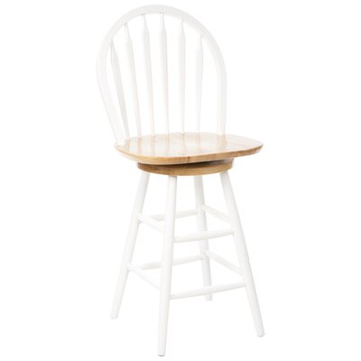 "Winsome Basics White 24"" Swivel Bar Stool"