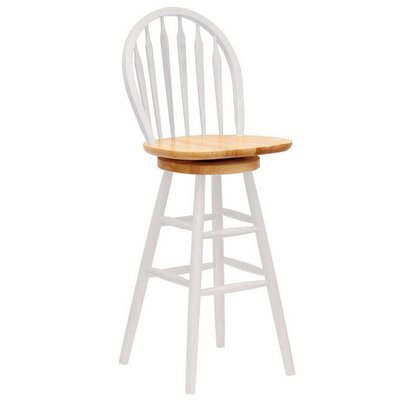 "Winsome Basics White 30"" Swivel Bar Stool"