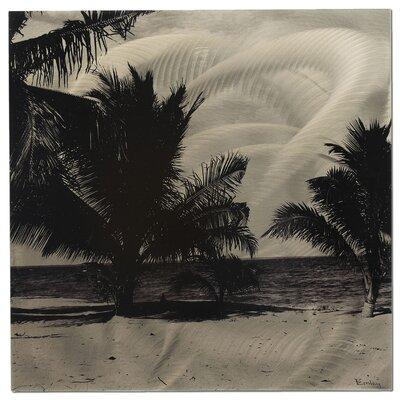 Metal Art Studio Palm Trees Painting Print Plaque