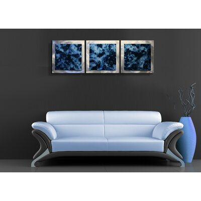 Metal Art Studio Essence Storm 3 Piece Graphic Art Plaque Set