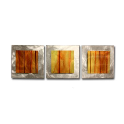 Metal Art Studio Essence Autumn 3 Piece Graphic Art Plaque Set