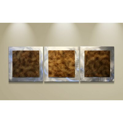 Metal Art Studio Essence 3 Piece Graphic Art Plaque Set