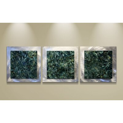 Metal Art Studio Essence Emerald 3 Piece Graphic Art Plaque Set
