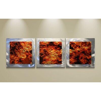 Metal Art Studio Essence Molten 3 Piece Graphic Art Plaque Set