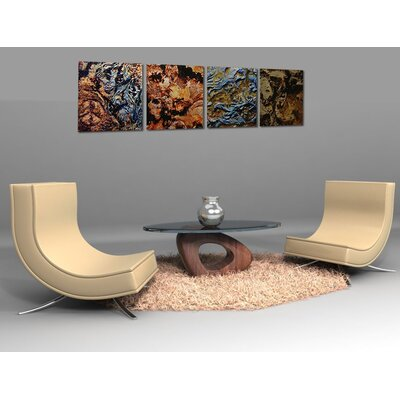 Metal Art Studio Mother Earth 4 Piece Graphic Art Plaque Set