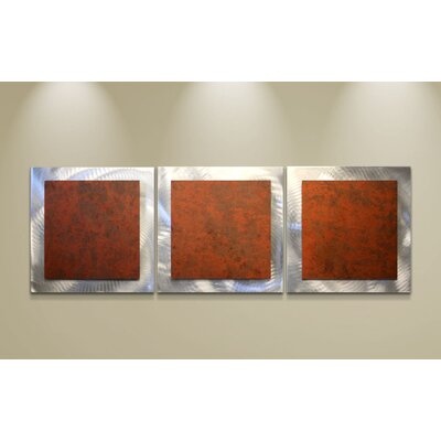 Metal Art Studio Essence Rusty 3 Piece Graphic Art Plaque Set