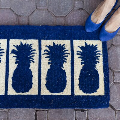 Entryways Four Pineapples Doormat