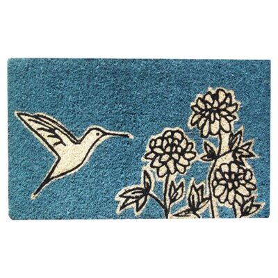 Entryways Flower and Hummingbird Doormat