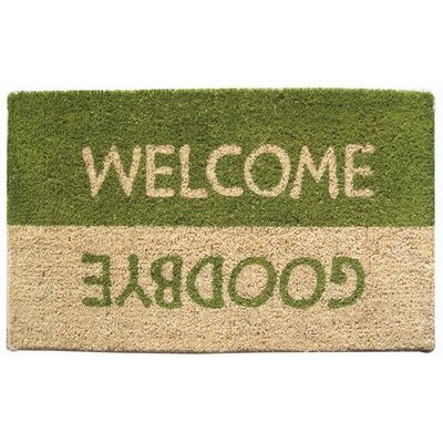 Entryways Mid Thickness Coir Welcome / Goodbye Coconut Fiber Doormat