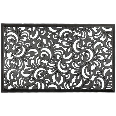 Recycled Scroll Flowers Doormat