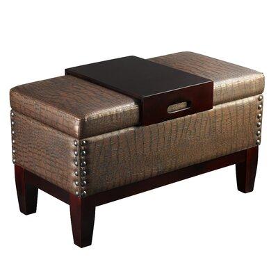 Brown Leather Storage Bench Wayfair