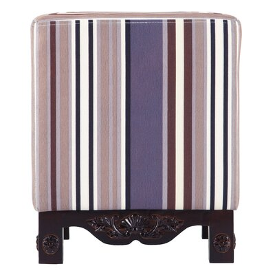Park Avenue Striped Ottoman