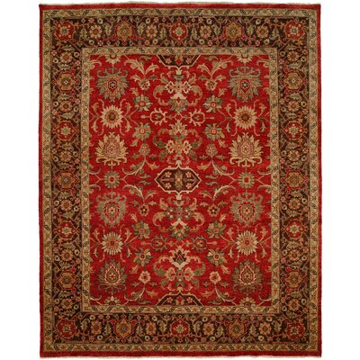 Wildon Home ® Herbal Red/Brown Rug