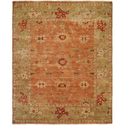 Wildon Home ® Terracotta / Light Green Rug