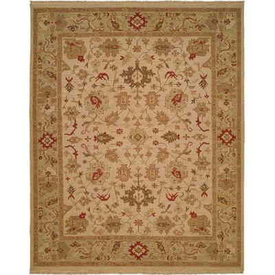 Wildon Home ® Ivory / Light Green Rug