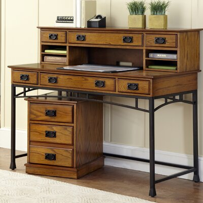 Craftsman style desks wayfair for Craftsman style desk plans