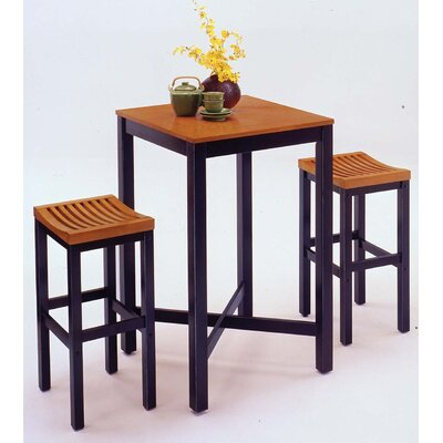 Home Styles Countour Black & Oak Pub Set
