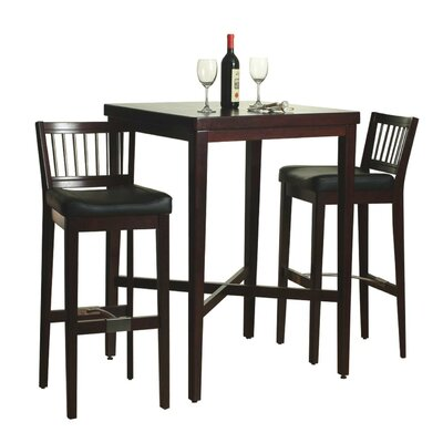 3 Piece Pub Table Set in Cherry Finish