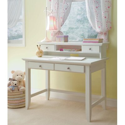 Home Styles Naples Student Desk and Hutch Set with 2 Drawers