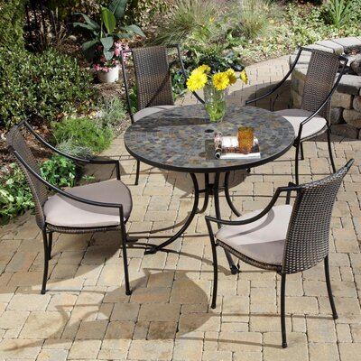 Home Styles Stone Harbor 5 Piece Dining Set with Cushions