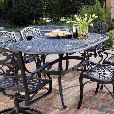 Home Styles Biscayne Oval Outdoor Dining Table Reviews Wayfair